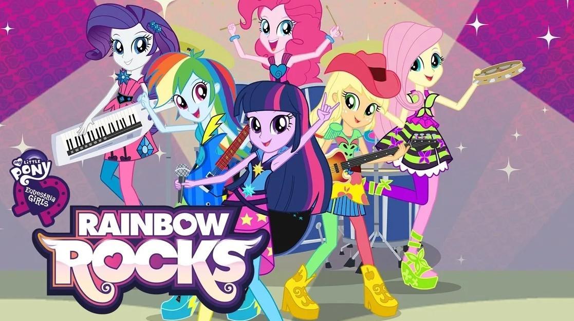 """<span class=""""title"""">Мой маленький пони: Девочки из Эквестрии — Радужный рок</span>"""